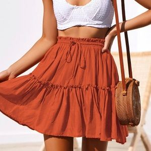 ✨NEW✨Cinched Boho skirt